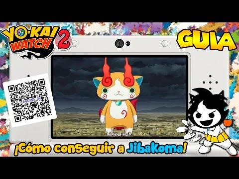 ¡Cómo conseguir a Jibakoma + Código QR! - Yo-kai Watch 2: Fantasqueletos y Carnánimas