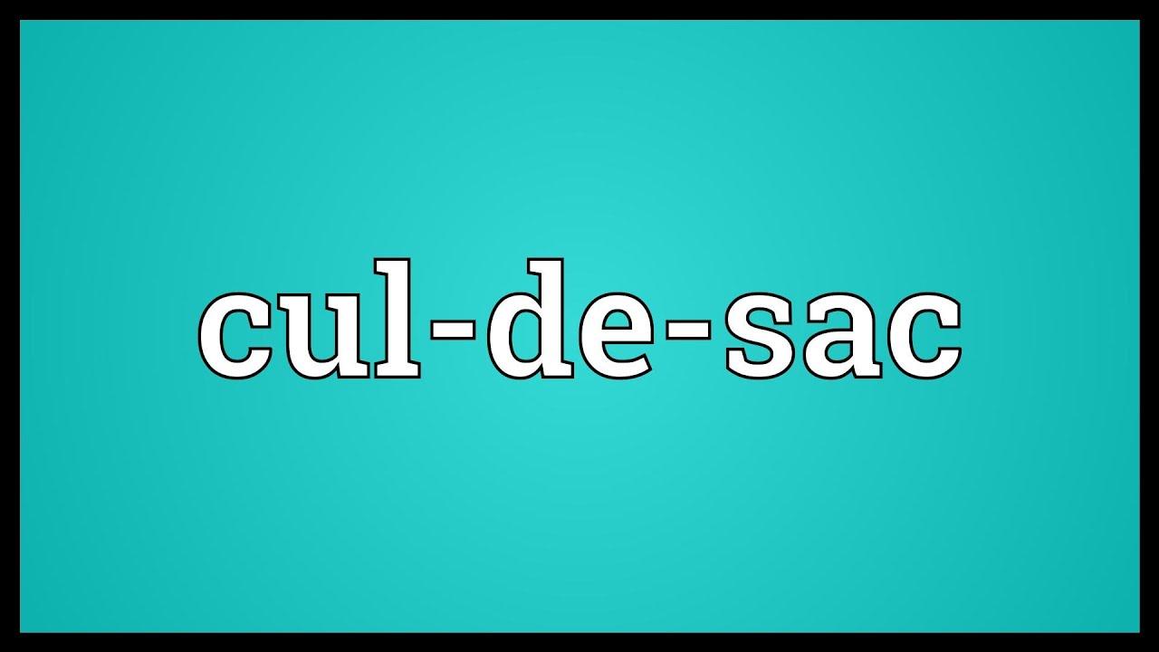 Cul-de-sac Meaning - YouTube