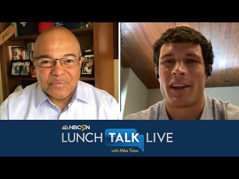 Luke Kuechly talks Cam Newton's next move, NFL retirement   Lunch Talk Live   NBC Sports
