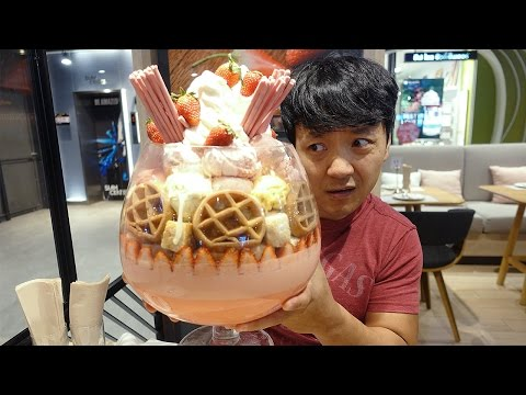 MASSIVE Ice Cream Sundae,  22 SCOOPS!!! in Bangkok Thailand!