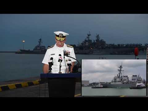 WHAT CAUSED THE USS JOHN MCCAIN DDG 56 COLLISION, NAVY ADM  SCOTT SWITF ADDRESS TO MEDIA!