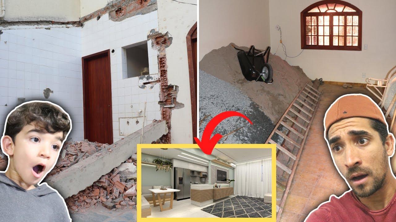 DESTRUIRAM A NOSSA CASA!!! Vamos reformar e decorar a casa da Família Rocha - Tour pela casa velha