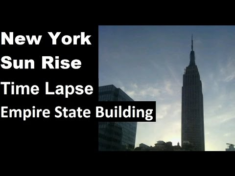 New York Morning Time Lapse. Empire State Building sun rise #Manhattan #NYC #timelapse #lapseit
