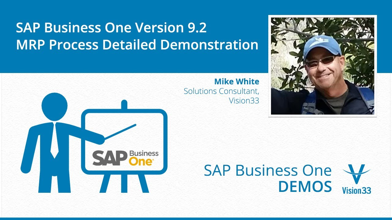 sap business one 9 2 mrp process detailed demonstration [ 1280 x 720 Pixel ]