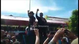 Minta FPI Dibubarkan, Ribuan Maasyarakat Manado Sweeping Bendera FPI