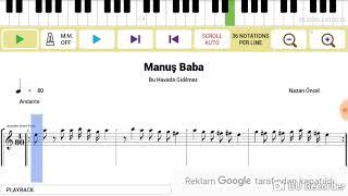Manuş Baba - Bu Havada Gidilmez - Nota + Solfej + Tab