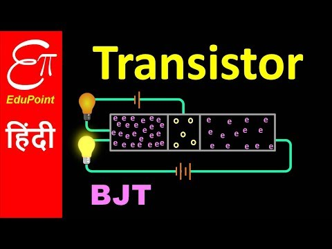 TRANSISTOR - Part 1   Construction and Working   Bipolar Junction Transistor (BJT)   in HINDI
