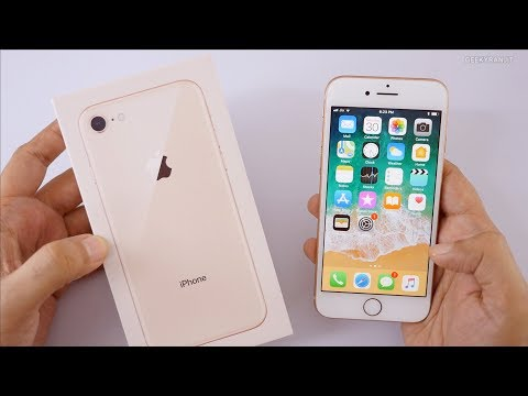 iPhone 8 Gold Unboxing & Hands On Overview (Indian Unit