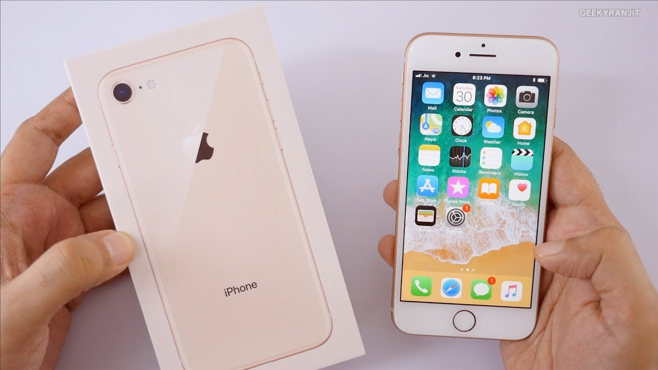 Iphone 8 Gold Unboxing Hands On Overview Indian Unit Youtube
