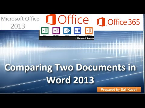 Comparing Documents in Word 2007, 2010, 2013, 2016