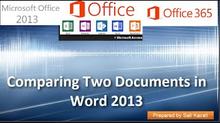 19. Comparing Two Documents in Word 2013