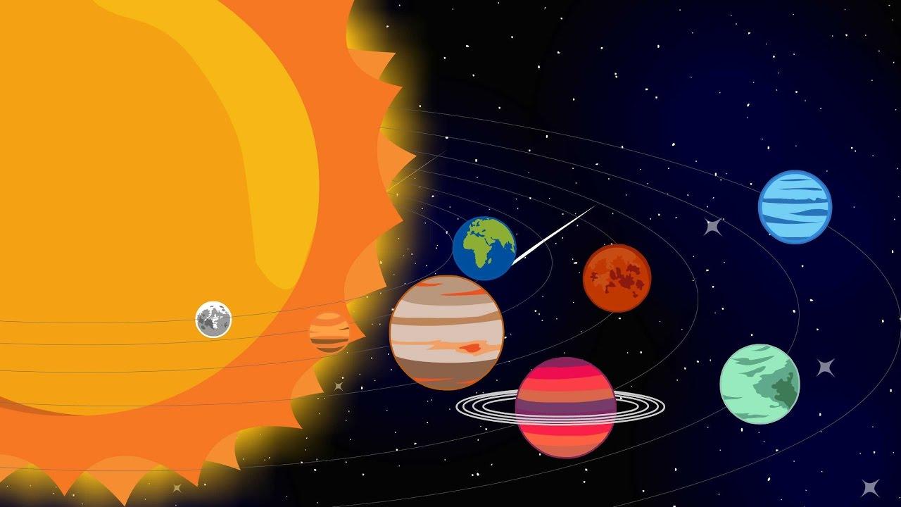 Solsystemet | Videoer for børn | Lære-video for børn | Merkur, Venus, Jorden, Mars