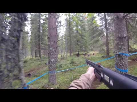 SRA SM 2016 shotgun - #7 BEAR IN THE WOODS! (head cam)