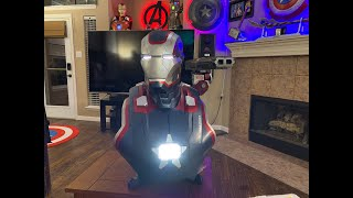 Sideshow Iron Patriot 1:1 bust unboxing 4K
