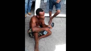 Santo Antonio de Jesus: Homem é preso e linchado após roubar TV no centro da cidade