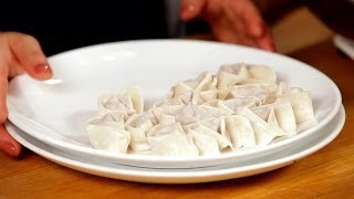 How To Fold A Wonton | Asian Cooking