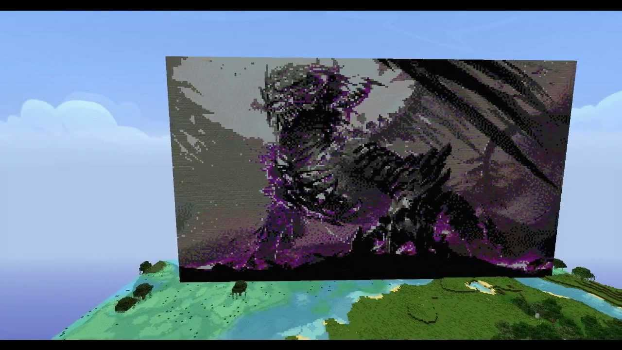 Minecraft Dragon Pixel Art Youtube