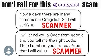 Don't fall Victim to this Craigslist Scam Google Verification Code Your Phone # will be Stolen