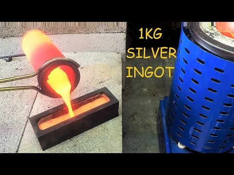 Melting Jewelry Into A 1kg Silver Bar