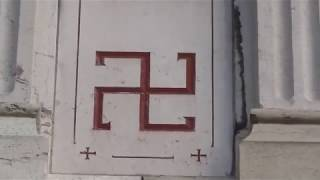 Swastika Nazi Symbols & Swiss Templar´s Crosses on french Basilisk catholic Church