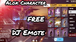 How To Get Free Alok  Characters In Free Fire & Get Free Top DJ Emote   Free Diamonds in Free Fire