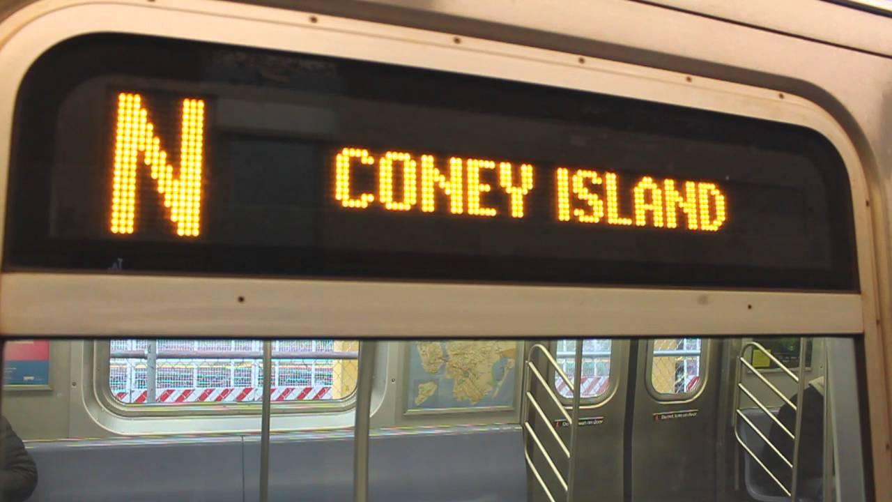 MTA New York City Subway Coney Island Bound Alstom R160A-1 ...