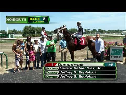 video thumbnail for MONMOUTH PARK 7-26-19 RACE 2