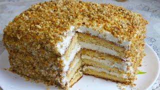 Очень Легко  Приготовить Этот Торт. Главное- Без Раскатки  Коржей!  Нереально Вкусный Медовый Торт.