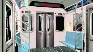 OpenBVE ►R142/R142A | 4 Subway Train | To New Lots!◀