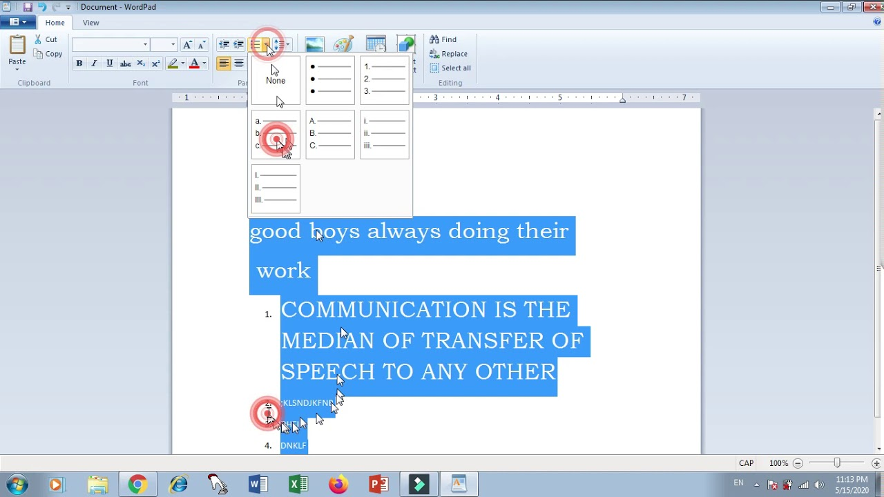 Word Pad Practical video - YouTube