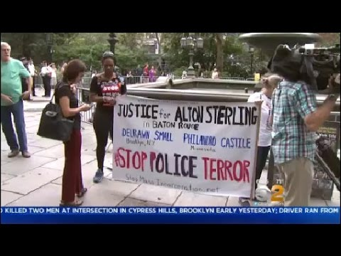 Group Protests At City Hall Park