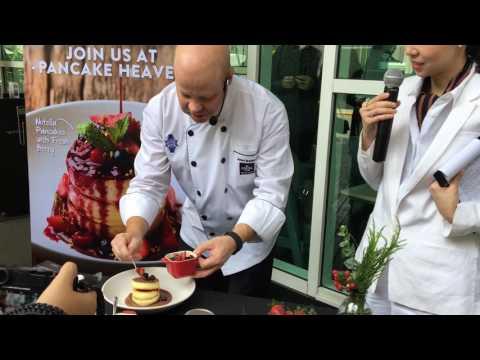 Nutella Pancakes with Fresh Berries - The Coffee Club Baan Rajprasong