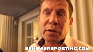 Julio Cesar Chavez SR talks about his son