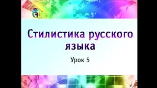 Урок 5. Стилистика русского языка. Часть 1