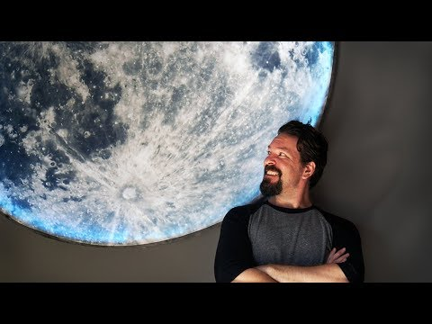 How To Make Giant DIY Moon Wall Art - no power tools, under $100