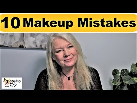 Top 10 Makeup Beauty Mistakes & Tips/Mature Over 50s Women