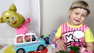 Классная машинка ДЛЯ ДЕВОЧЕК !!! Развлечение для детей Toys car Hello Kitty for girl Entertainment