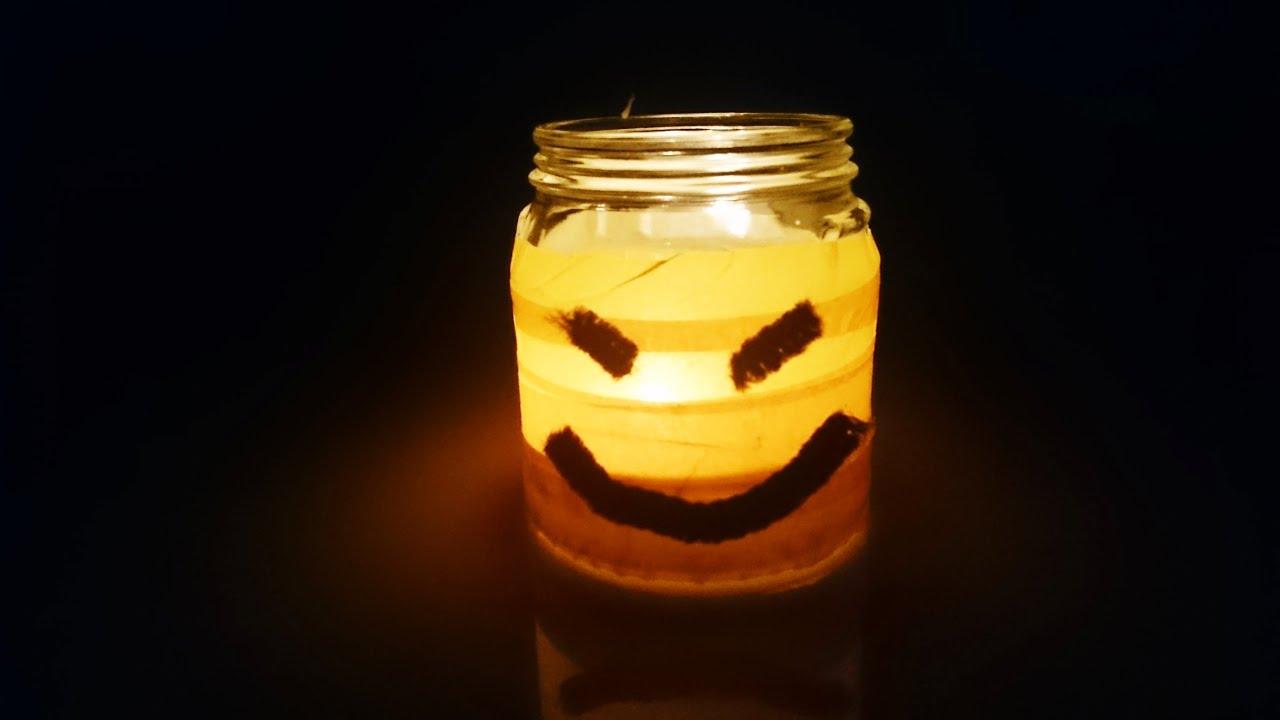 bricolage halloween comment faire un photophore pour. Black Bedroom Furniture Sets. Home Design Ideas