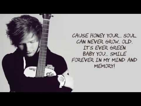 Ed Sheeran - Thinking Out Loud Lyrics With Music