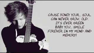 Ed Sheeran Thinking Out Loud Lyrics With Music