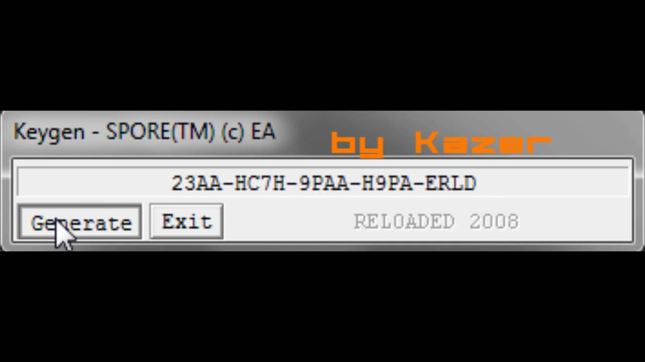 spore cd key registration code