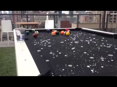 Outdoor Pool Table Water Spill