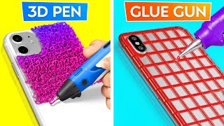 GLUE GUN VS 3D PEN! || Awesome Crafts And Hacks By 123 GO! GOLD
