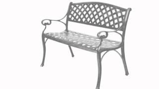 Cast Aluminium Garden Bench & Table Set