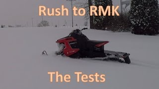 Rush to RMK ~ First tests - Rc Snowmobile