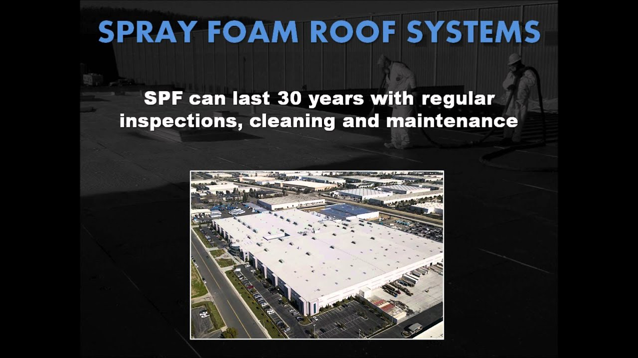 Spray Polyurethane Foam Spf Roof Systems White Roofing