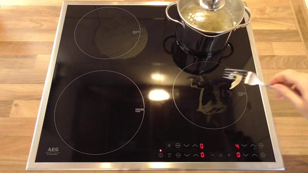 Come si assaggia la pasta su un piano cottura a induzione - YouTube