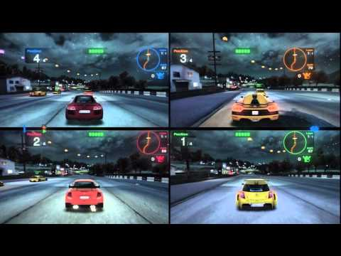 Blur- 4 players multiplayer splitscreen