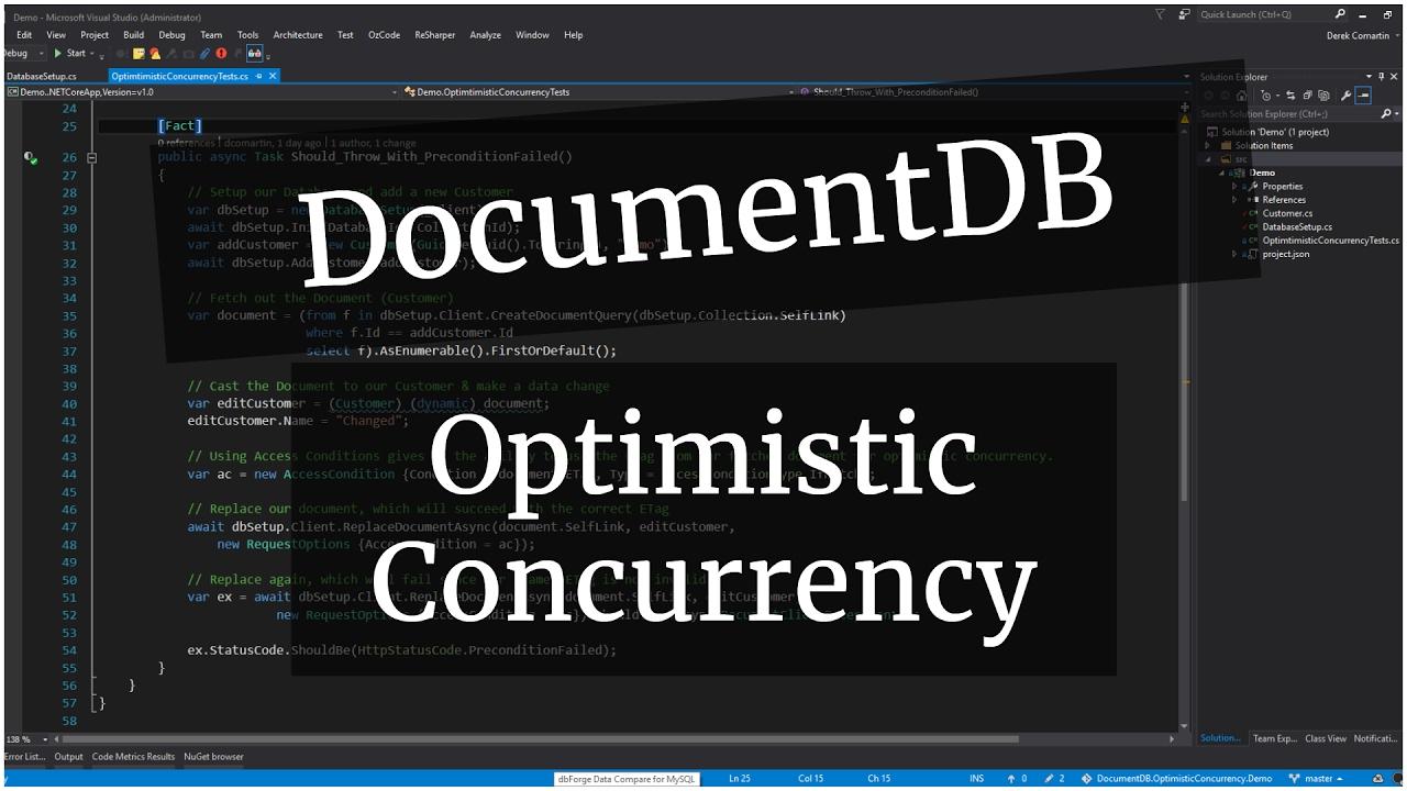 Optimistic Concurrency in DocumentDB | .NET Core
