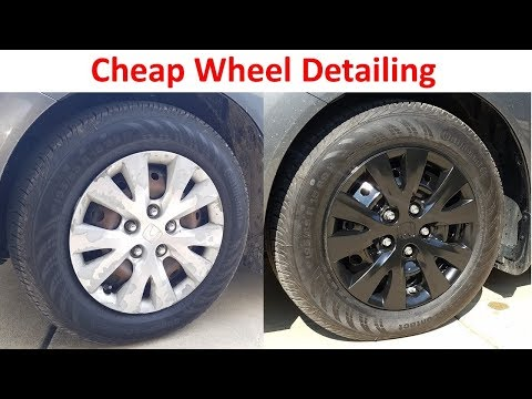 Cheap Way to Detail Wheels - Remove Rust and Paint Rims